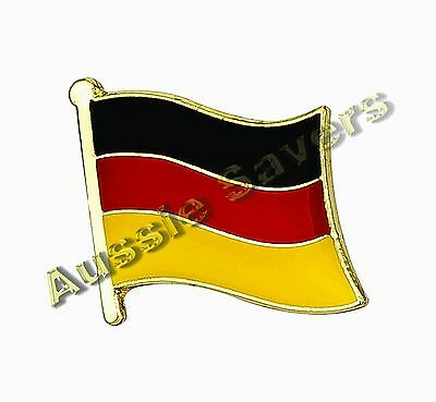 Germany (German) Flag Hat Pin / Badge - Brand New