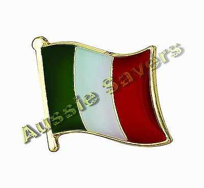 Italy (Italian) Flag Hat Pin / Badge - Brand New