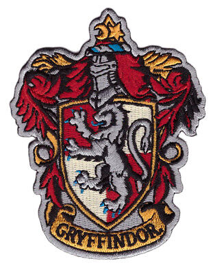 Hook Fastener Harry Potter House of Gryffindor Crest  Embroidered Patch Parche