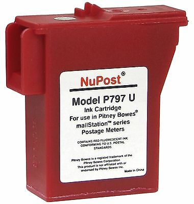 NuPost NPTK700 Compatible Red Ink Cartridge Replacement for Pitney Bowes ... NEW