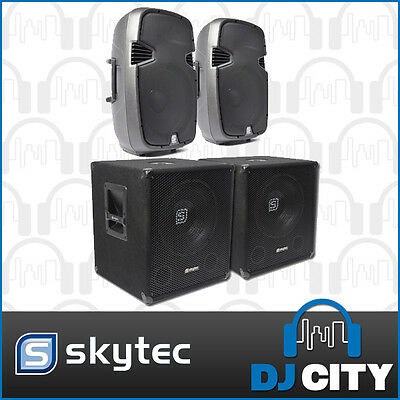 3600 watt speaker package - Blast your way through your next party with these...
