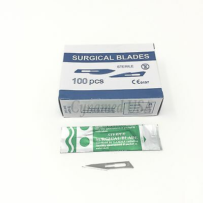 100 Scalpel Blades #11 Surgical Dental ENT Instruments (RCT)