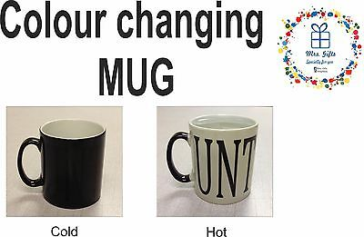 Magic mug, Colour changing mug, MUG * UNT, Rude Naughty Novelty mug, gifts ideas