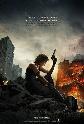 RESIDENT EVIL THE FINAL CHAPTER MOVIE POSTER SS ORIGINAL 27x40 MILLA JOVOVICH