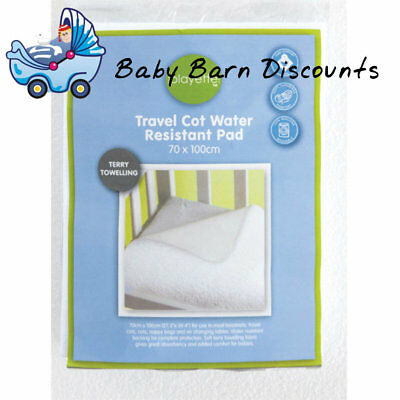 Playette Travel Cot Water Resistant Terry Towelling Pad (70 x 100cm)