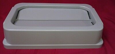 Continental Commercial 7325GY Wall Hugger Drop Shot Lid, Grey New lot of 4