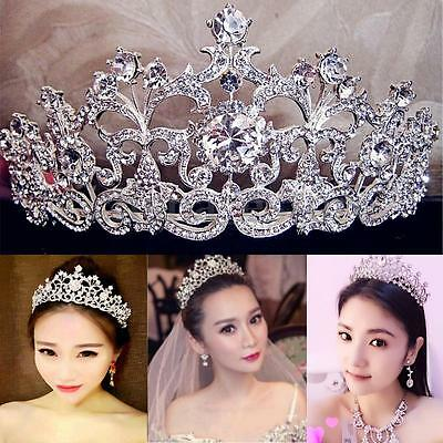 Wedding Bridal Crystal Rhinestone Hair Headband Crown Comb Tiara Prom Pageant US