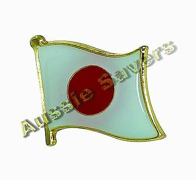 Japan (Japanese) Flag Hat Pin / Badge - Brand New