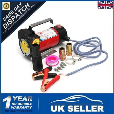 12V 175W Portable Fuel Diesel Oil Kerosene Transfer Pump Self Priming 50L/Min UK