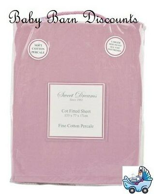 NEW Sweet Dreams - Cot Fitted Sheet - Plumrose from Baby Barn Discounts