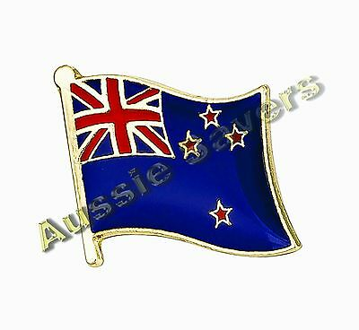 New Zealand Flag Hat Pin / Badge - Brand New