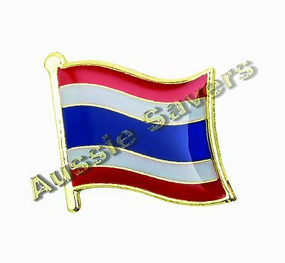 Thailand (Thai) Flag Hat Pin / Badge - Brand New
