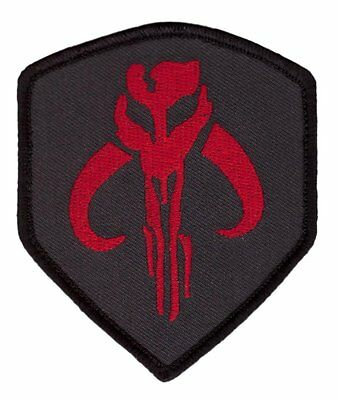 Hook Patch Mandalorian Skull Symbol Wars Boba Fett Star  Patch Parche Bordado