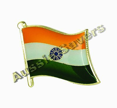 India (Indian) Flag Hat Pin / Badge - Brand New