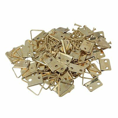 Triangle Ring Hanger for Photo Picture Set of 50 Gold
