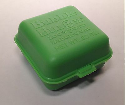 Vintage 1978 Fleer Green BUBBLE BURGER Gum Container candy novelty topps
