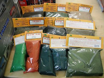 IHC, Scenic Turf SeeNiks, SPECIAL BULK BUY 10 ASSORTED BAGS IN PACK, HO Scale