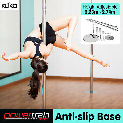 Powertrain Dance Pole Professional Spinning Portable Yoga Fitness 2 x Extensions