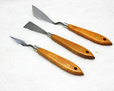 For Knives Artist Oil Painting Tools 3Pcs Mixed Stainless Steel Palette Spatula