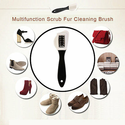 Multifunction Scrub Fur Cleaning Brush Portable Snow Boots Suede Shoe Cleaner SW