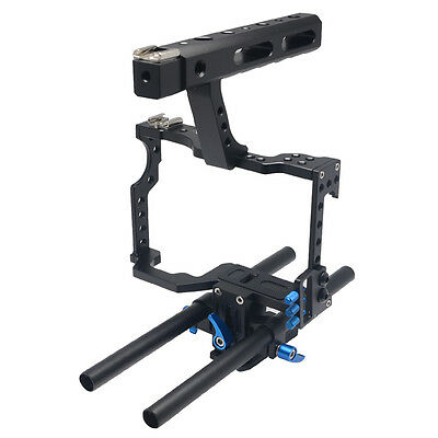 Mcoplus DSLR Rod Rig Camera Video Cage Handle Grip for Sony A7 A7r A7s II A6300