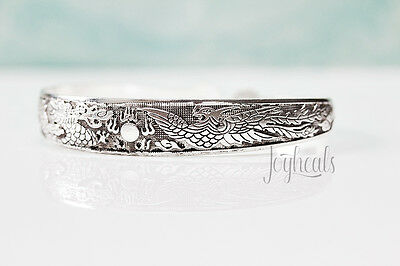 Mother of Dragon Khaleesi Bracelet Cuff Bangle Tibetan Silver Plated Vintage