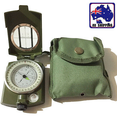 Military Army Pocket Compass Outdoor Hiking Survival Travel Sighting OCOM53999