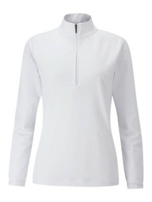 Ping Ladies Carmel Mock Neck Layering - White