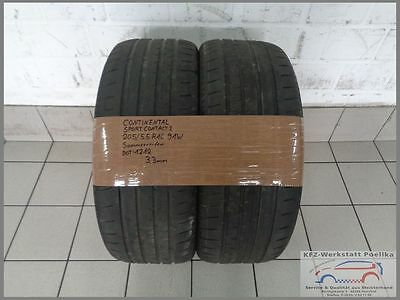 2x Continental 205 55 R16 91W Sport Contact 2 DOT1212 3,3mm Sommerreifen