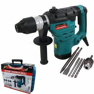 Neilsen SDS Rotary Hammer Drill 1200 Watt Power Heavy Duty Case & Drills Kit*