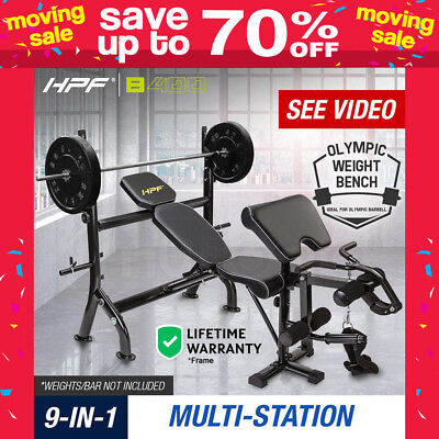 NEW HPF Multi-Station Weight Bench Equipment Ab Weights Leg Curl Press Home Gym