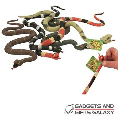 LARGE STRETCHY SNAKE TROPICAL COLOURED 56cm REALISTIC x 1 toy gift childs kids