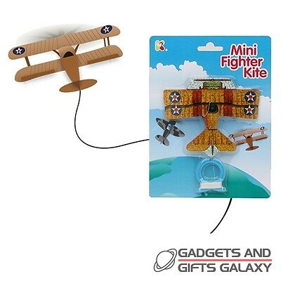 SMALL MINI FIGHTER AIR PLANE  KITE OUTDOOR FUN Gifts games & gadgets