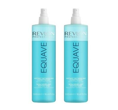 2x REVLON EQUAVE HYDRO 2 PHASE KERATIN HYDRO NUTRITIVE CONDITIONER 500 ml