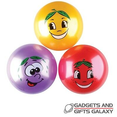 "10"" SCENTED FRUIT BALL 25cm ass colours toy gift novelty childs kids favours"