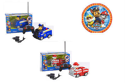 Paw Patrol Remote Control Car RC Toy Marshall Chase Pups Fire Truck Police Van