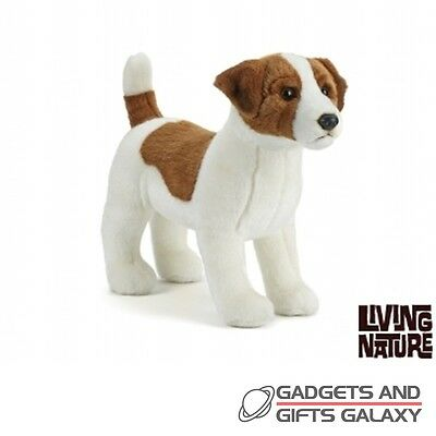 JACK RUSSELL DOG STANDING PLUSH 35cm & FACTS toy gift novelty childs kids teddy