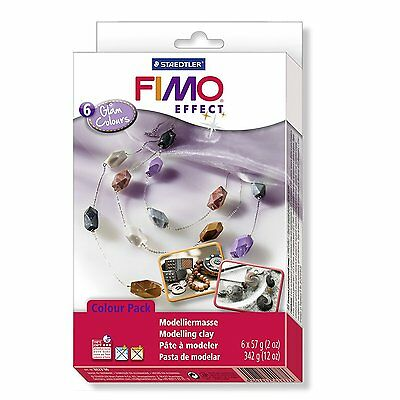 Staedtler FIMO Effect Material Set - GLAM Colours - Pack of 6 x 57g Blocks