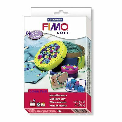 Staedtler FIMO SOFT Material Set - COOL Colours - Pack of 6 x 57g Blocks