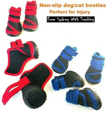 Waterproof non-slip dog/cat shoes/booties perfect for injury Set of 4