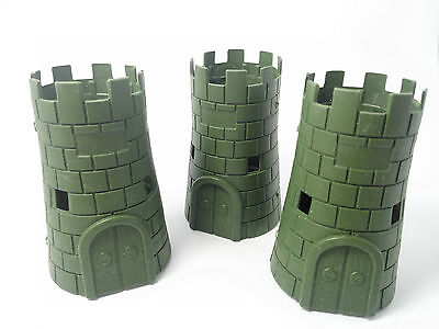 3PC Blockhouse Turret toy soldier sand table model Army Men Accessories