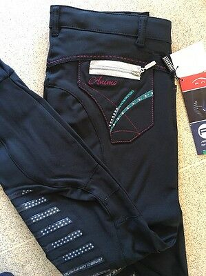 Animo Breeches jodhpurs Navy With Gripping Age 12  BN