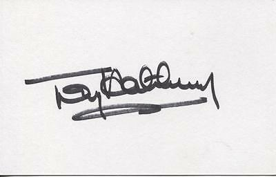 A 13cm x 7.5cm Plain White Card Signed by Tony Hateley. Liverpool, Chelsea.