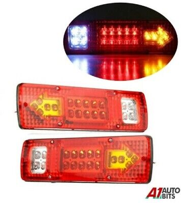2X 12V 19 Led Trailer Truck Bus Van Stop Rear Tail Indicator Lights Reverse Lamp
