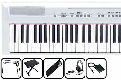 Yamaha P115 WH Weiss - transportables Piano MEGA-SET