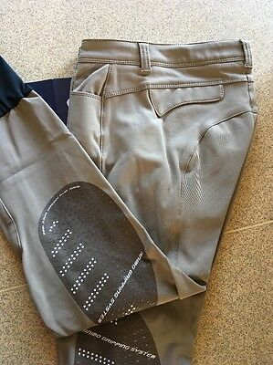 Animo Breeches i44 Uk12 US10 Beige Jodhpurs Jods BN