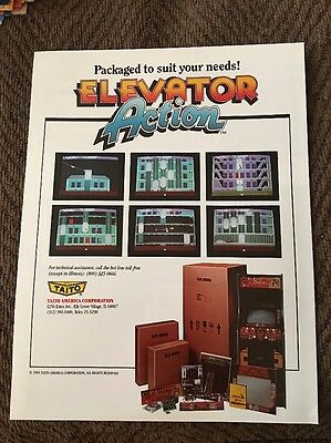 1983 Taito Elevator Action Video Game Flyer