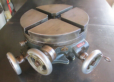 """Craftsman Vintage X & Y Axis 8"""" Rotary Table In Excellent Original Shape!"""