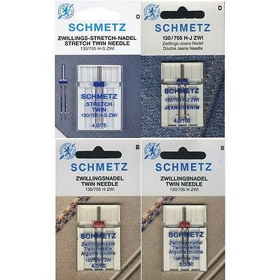 Schmetz Nadelsortiment Stretch/ Jeans & Universal Twin/ System 130/705H #15621