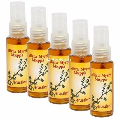 Lot of 5 pcs Anointing Oil Scented with Myrrh Blessing from Jerusalem 1.3 fl.oz